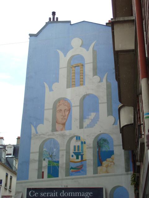 fresque murale au 72 rue raymond losserand paris en photos. Black Bedroom Furniture Sets. Home Design Ideas