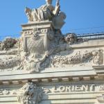 Un détail du fronton du Musée d'Orsay
