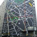 La façade Plan de métro, rue Jean Colly