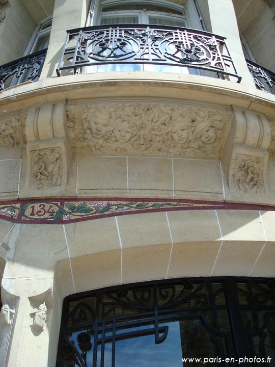 L'entrée paradisiaque du 134 rue de Courcelles