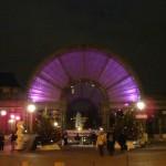 Une entrée vers le jardin des Halles, vue depuis l'allée André Breton