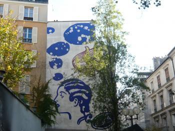 fresque rue des dames