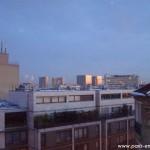 Vue sur la BNF au soleil levant