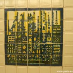 Mosaïque urbaine, métro Clémenceau