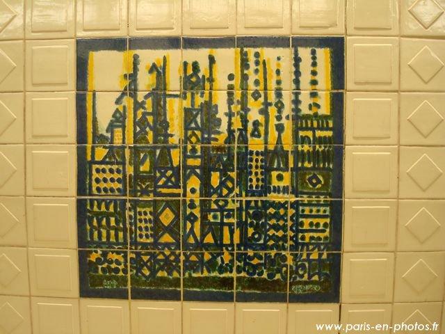 mosaique métro clémenceau
