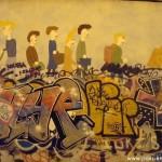 Un graffiti mural, rue Bouvier