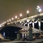 Pont Alexandre III, de nuit