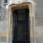 La grande porte du 122 rue Mozart