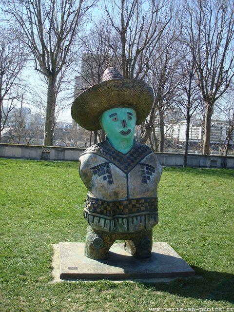 felipe le mexicain sculpture bercy