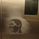 Un graffiti américain vu dans l'ascenseur