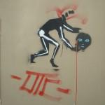 Un graffiti macabre, rue Poubot