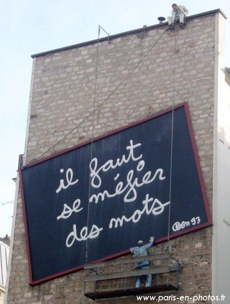 mur à mots rue belleville