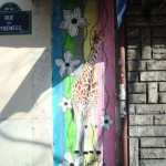 La girafe de Mosko rue des Pyrénées