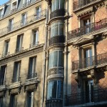 Colonne de bow-window, au 58 bd de Clichy
