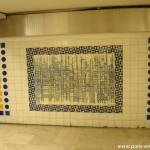 Mur mosaïque, métro Clémenceau