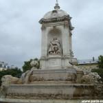 La fontaine des 4 point cardinaux, place Saint-Sulpice