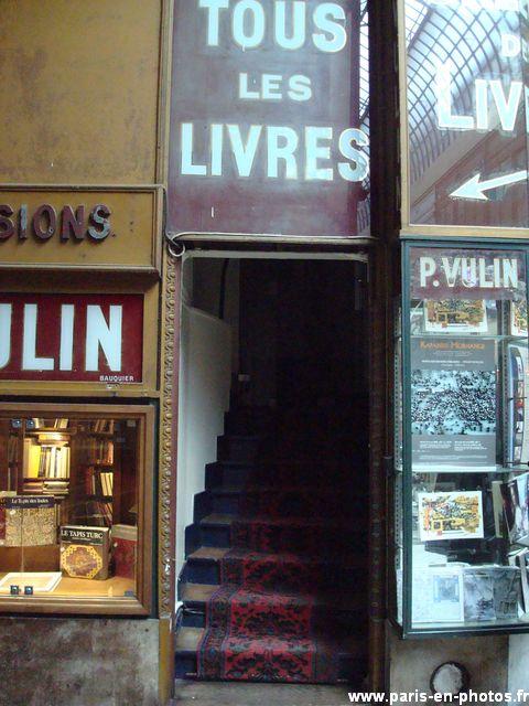 entrée librairie passage jouffroy