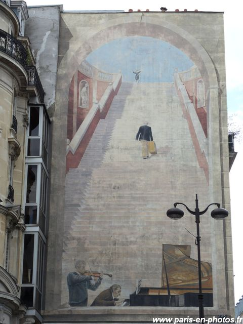 fresque musicale 17 rue Etienne Marcel