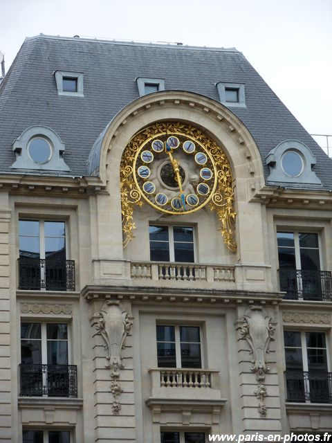 horloge le Temps rue italiens