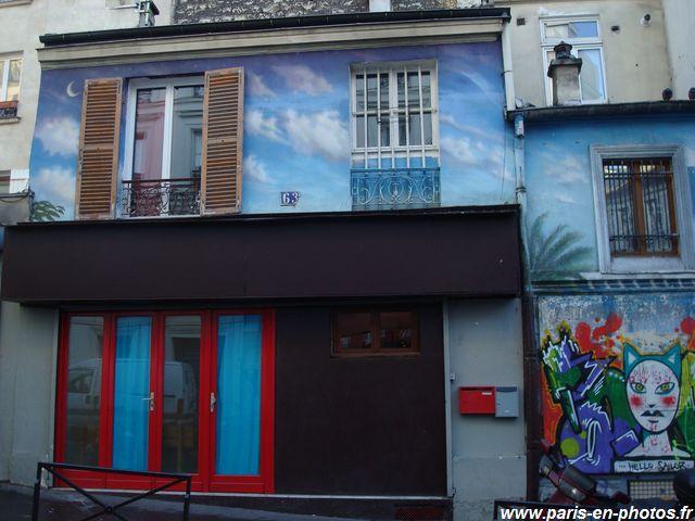façade peinte 63 rue piat