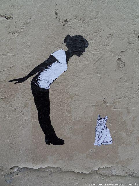 graffiti chat rue Gabrielle