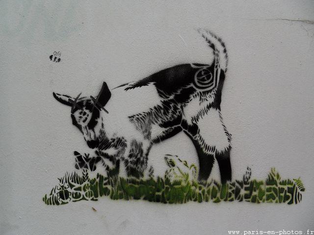 graffiti chèvre rue Gabrielle