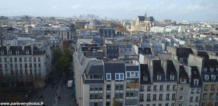panorama sur les toits de paris paris en photos. Black Bedroom Furniture Sets. Home Design Ideas