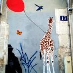Les girafes de Mosko, rue Piat