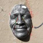 Masque de Gregos argenté