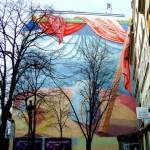 Fresque drapée à République