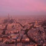 Paris sous le soleil levant