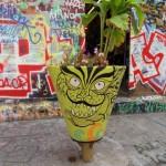 Le pot de fleurs vert de la rue Denoyez