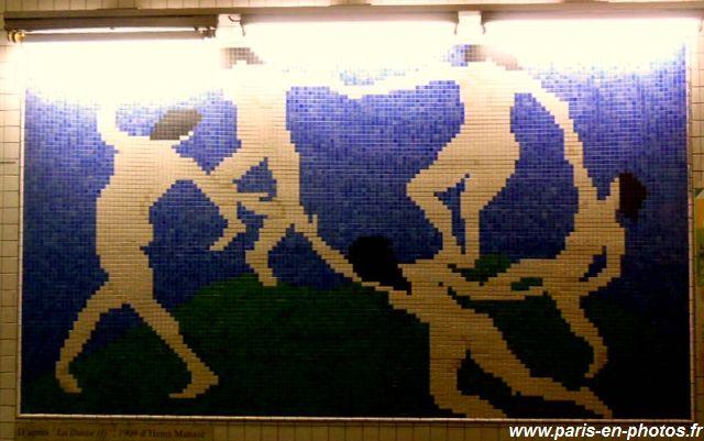 La danse, mosaïque Matisse, station Opéra