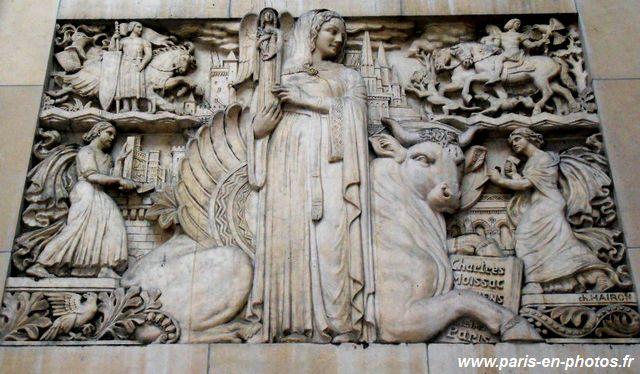 """bas-relief """"l'art français"""", Palais de Chaillot, Charles Hairon"""