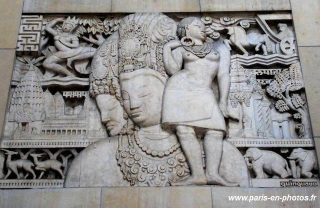 bas-relief Indochine, palais de Chaillot, Anna Quinquaud