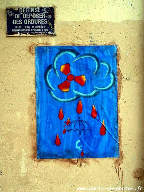 affiche nuage nucléaire street art
