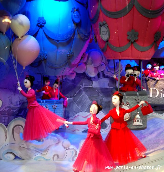 vitrines Dior Printemps Haussmann Noël 2012