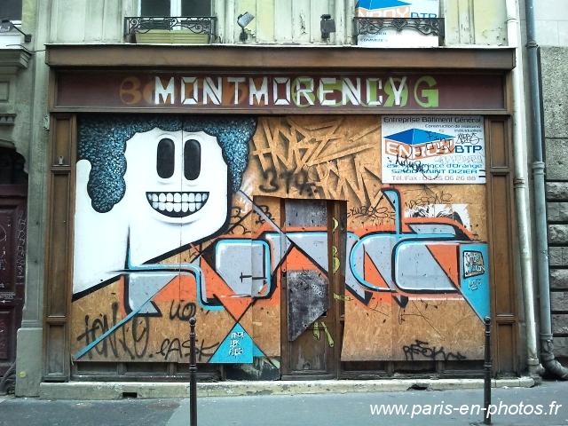 graffiti vitrine rue Montmorency