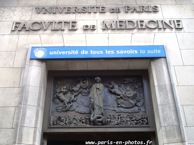 haut relief entrée bronze faculté médecine