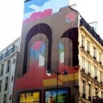 Arcades géométriques, une fresque rue Mogador