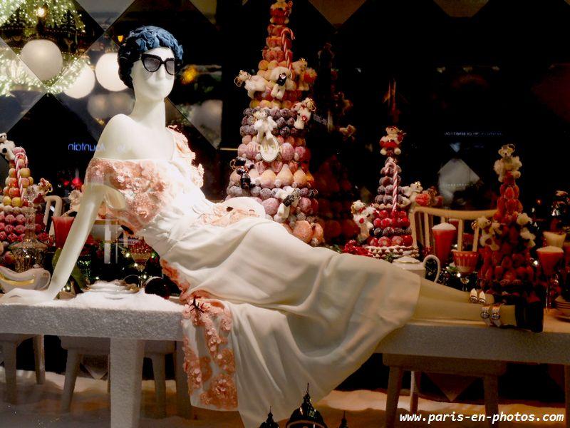 vitrine Noël Printemps pâtisserie