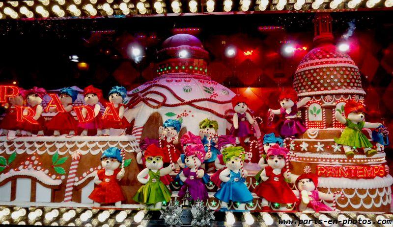 ours danseurs vitrines de Noël Printemps