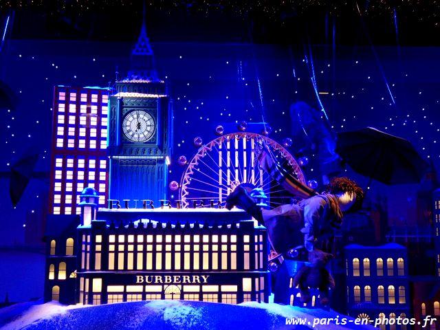 Londres vitrine Noël Big Ben