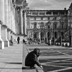 La cour Napoléon du Louvre