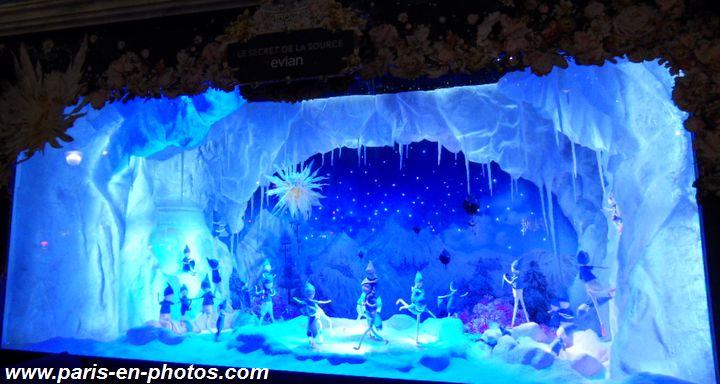 Evian vitrines Noël 2015